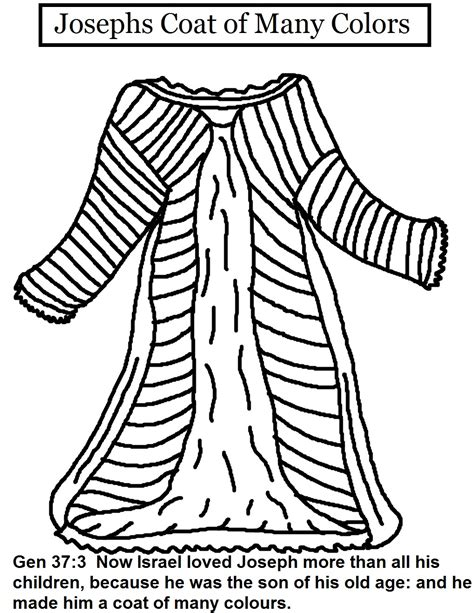 joseph and the coat of many colors josephs coat of many colors coloring pages