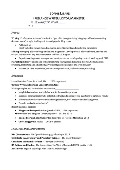 Writer Editor Resume Template by Top Writer Resume Templates Free To In Pdf Format