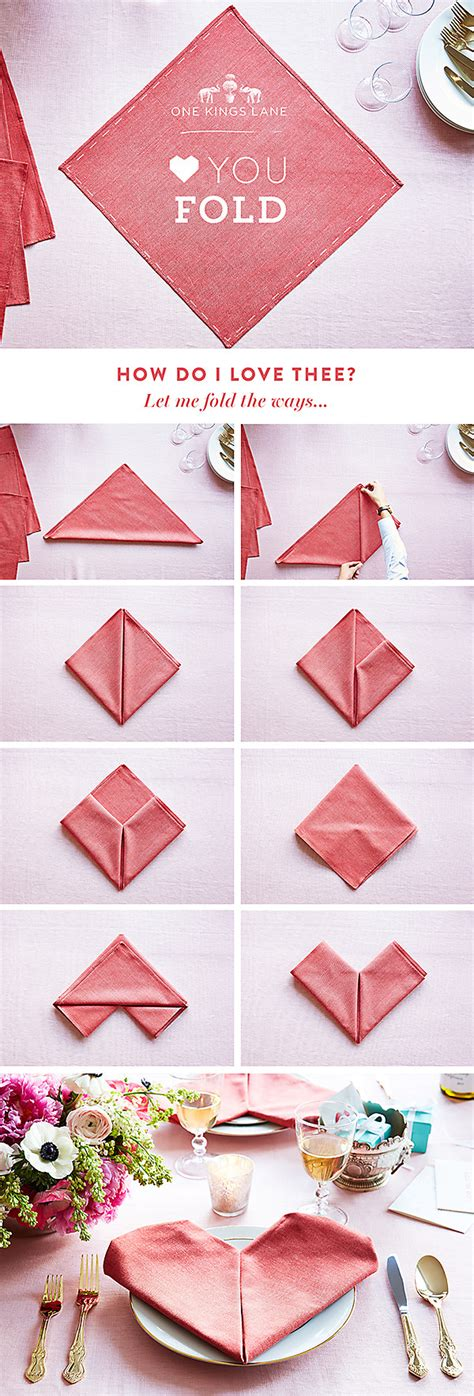 How To Fold Paper Serviettes - upgrade your valentine s day table with this fold