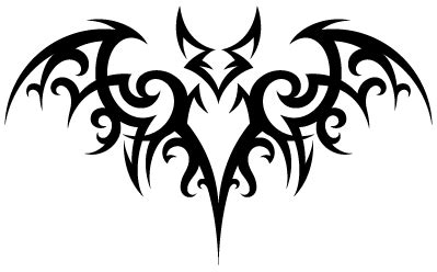 bat tribal tattoo tribal bat transparent png stickpng