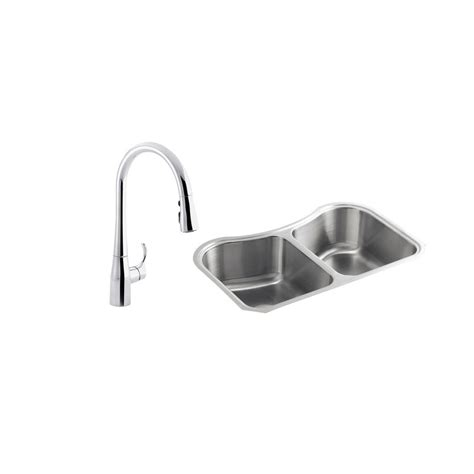 Kohler Staccato Kitchen Sink by Kohler Staccato All In One Undermount Stainless Steel 31