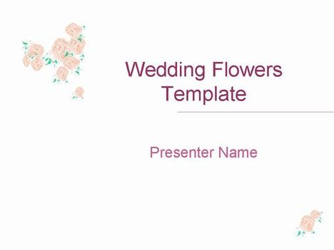 wedding powerpoint templates free wedding flowers 2 template