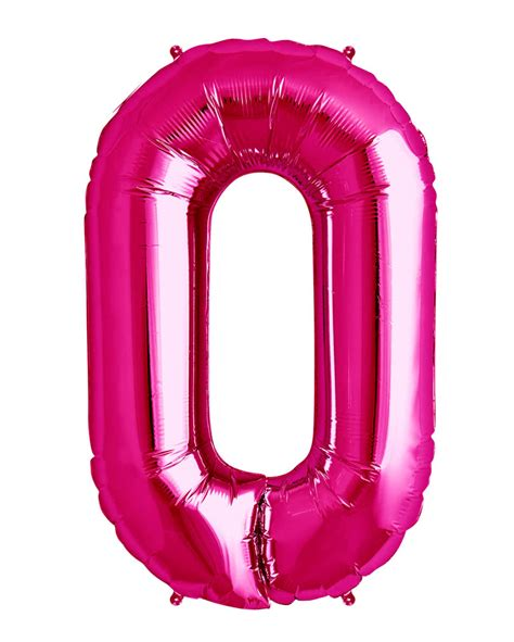 Pink foil balloon number 0 pinker helium balloon with number horror shop com
