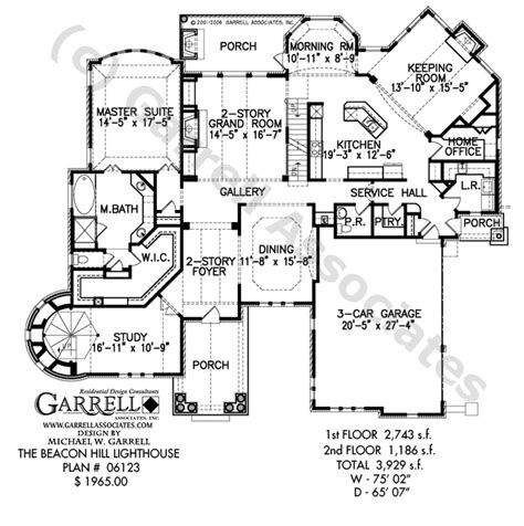 lighthouse floor plans beacon hill lighthouse plan house plans by garrell
