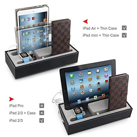 smartphone charging station transitional desk apple watch stand 4 in 1 charging station multiple