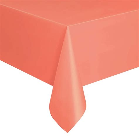 table cover rectangle coral plastic table cover rectangle