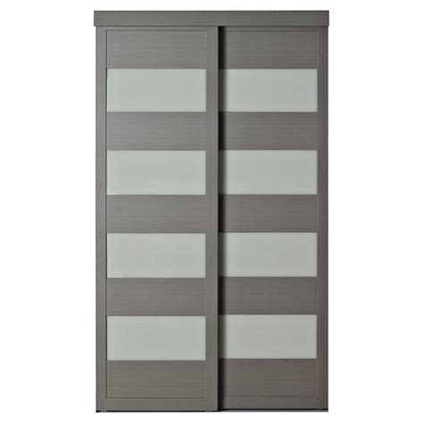 sliding closet doors 96 high quot 4 lite quot sliding door 48 quot x 80 1 2 quot rona