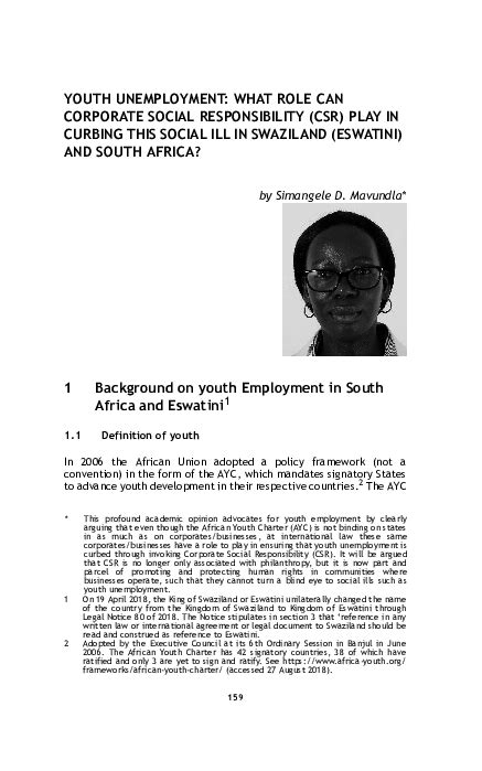 youth unemployment  role  corporate social