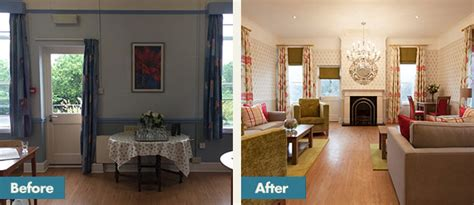 homesmiths before after healthcare interior design