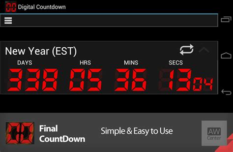 android countdown timer countdown android countdown timer widget app aw center