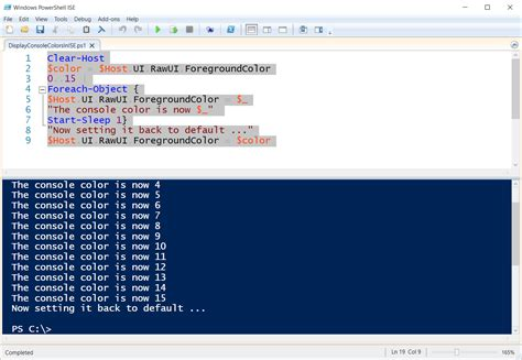 powershell colors change display output colors in powershell ise hey