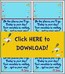 oh the places you ll go graduation printable treat bag