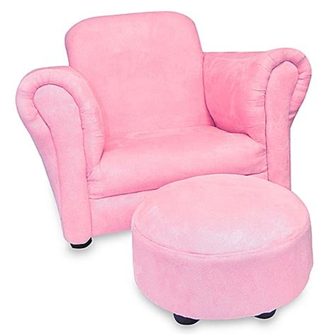 pink chair and ottoman pink faux suede stuffed children s chair and ottoman bed