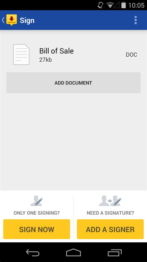 docusign android english evernote app center