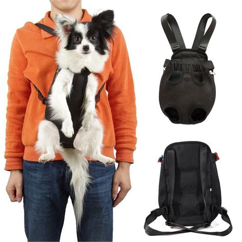 puppy backpack carrier pet puppy sling tote carrier backpack front net travel soft bag black ebay