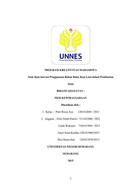 program kreativitas mahasiswa sosis ikan inovasi