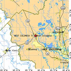 west columbia map west columbia tx population data races