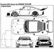 Porsche 935 Blueprint  Download Free For 3D