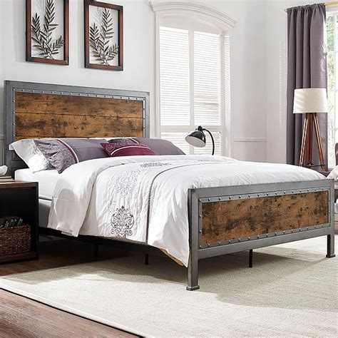 bed company walker edison furniture company brown queen bed frame