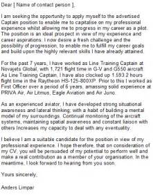 Airline Pilot Cover Letter by Pilot Cover Letter Sle