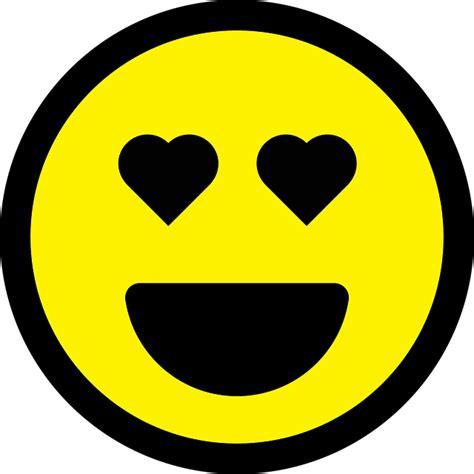 smiley emoticon love  vector graphic  pixabay