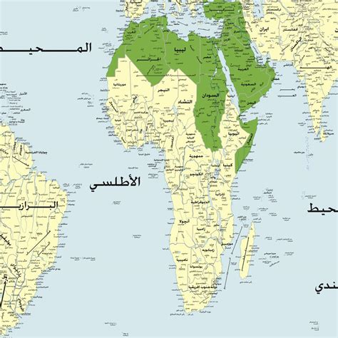arabic map arabic world map 183 maps and directions at map