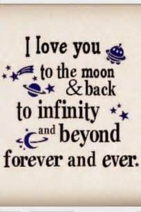 Infinity Poems Quotes I You To The Moon And Back Quotes Poems
