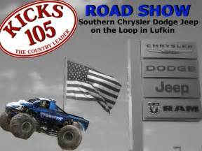 win tickets at southern chrysler dodge jeep in lufkin