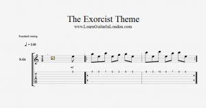 theme song exorcist the exorcist theme intro tab learnguitarinlondon com