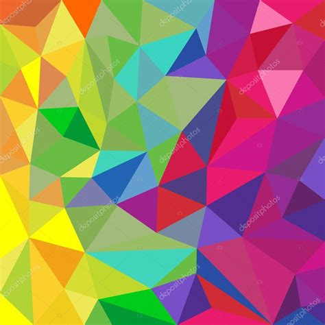 pattern vector color rainbow color triangular vector pattern abstract