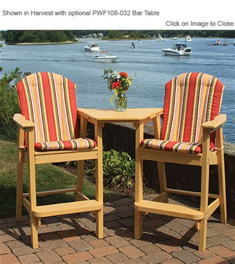 Seaside Casual Chairs by Envirowood Outdoor Poly Furniture Seaside Casual Sea060 Adirondack Shellback Bar Chair