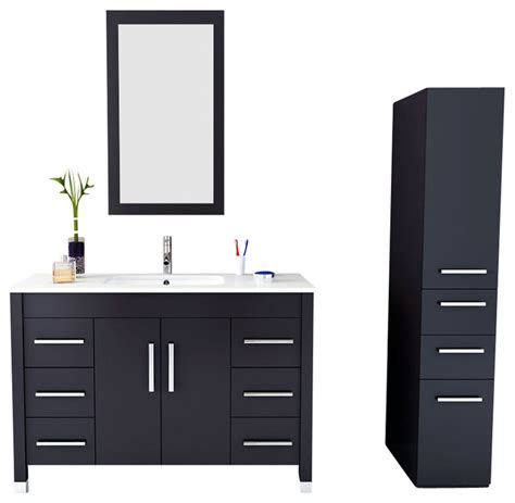 transitional bathroom vanity cabinets 47 quot grand crater modern single bathroom vanity with stone