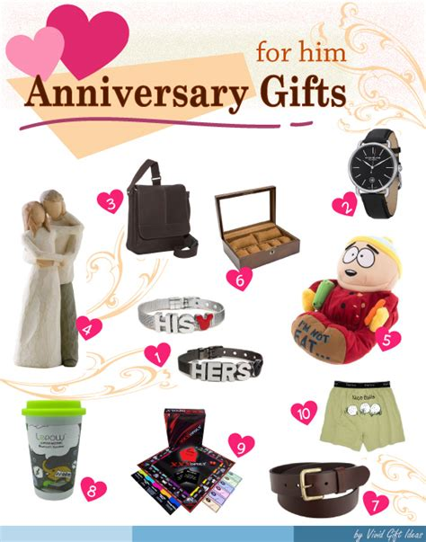 gift ideas for him best anniversary gift ideas for him s