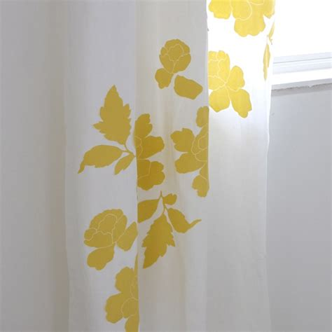 Yellow And White Curtains Diy Embellished Curtains School Of Decorating By Jackie Hernandez