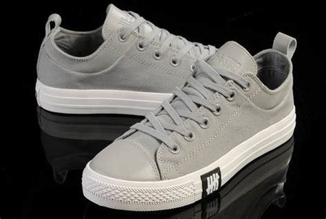 Sepatu Converse All Ox Canvas High Grey Unisex Premium Bnib unisex light ox converse chuck all leather grey canvas low tops sneakers b4091208