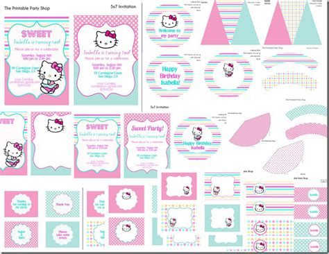 Hello Kitty Printable Party Decorations Free | hello kitty birthday party ideas frosted events