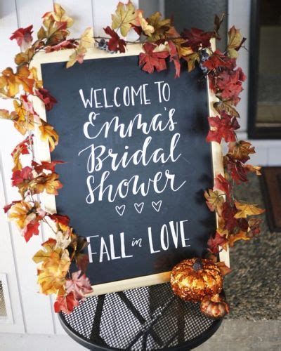 fall themed bridal shower decorations bridal shower themes