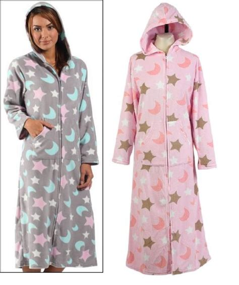 bed bath and beyond bathrobes details about ladies zip up dressing gown polar fleece