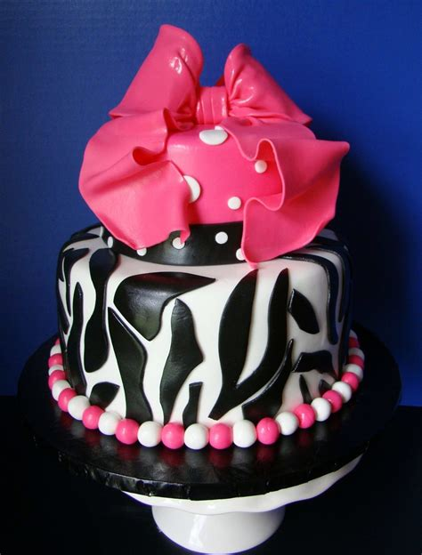 Pink And Zebra Baby Shower by Pink Zebra Baby Shower Cakecentral