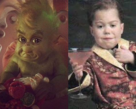 josh ryan evans as a baby baby grinch and the actor who plays him josh ryan evans