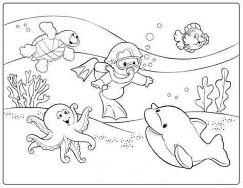Printable Scuba Diver Coloring Pages by Scuba Diver Coloring Page Printable Coloring Page For