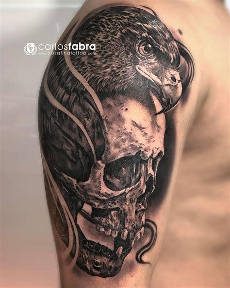 tattoo eagle skull calavera y 225 guila skull and eagle realizado en