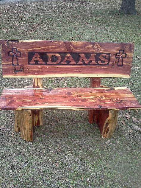 cedar log bench cedar log bench for the bus stop for the home pinterest