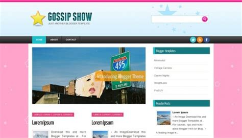 gossip templates for blogger gossip show blogger template btemplates