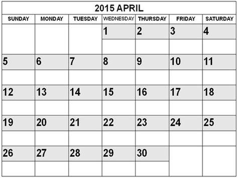 April 2015 Calendar With Holidays Best Collection Of 2015 April Calendar April 2015