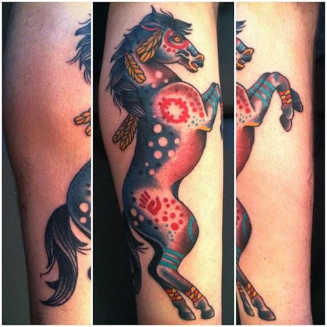 war horse tattoo american tatoos traditional war pony
