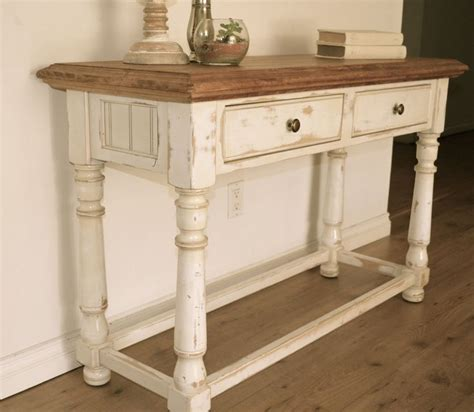 white distressed sofa table farmhouse style console table distressed white paint