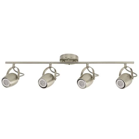 globe electric track lighting globe electric samara collection 4 light brushed nickel