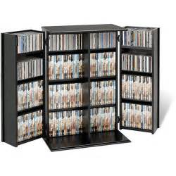 Dvd Storage Cabinet With Doors Broadway Locking Dvd Cd Media Storage Cabinet By Prepac Shaker Doors Media Storage And