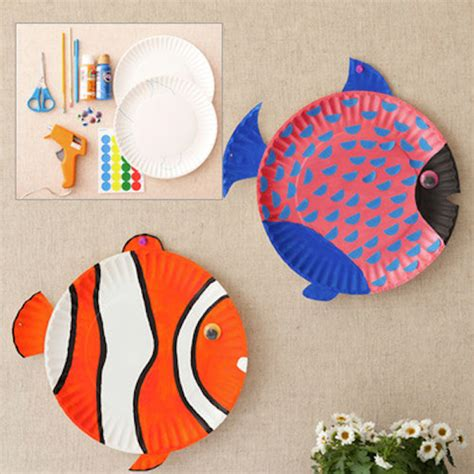 paper plate fish template arts and crafts archives
